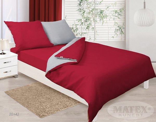 Pościel Czerwono Szara Matex 100% bawełna wz. 20+42
