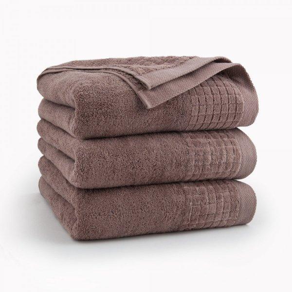 Ręcznik kąpielowy 70x140 Ecru Cynamonowy Zwoltex
