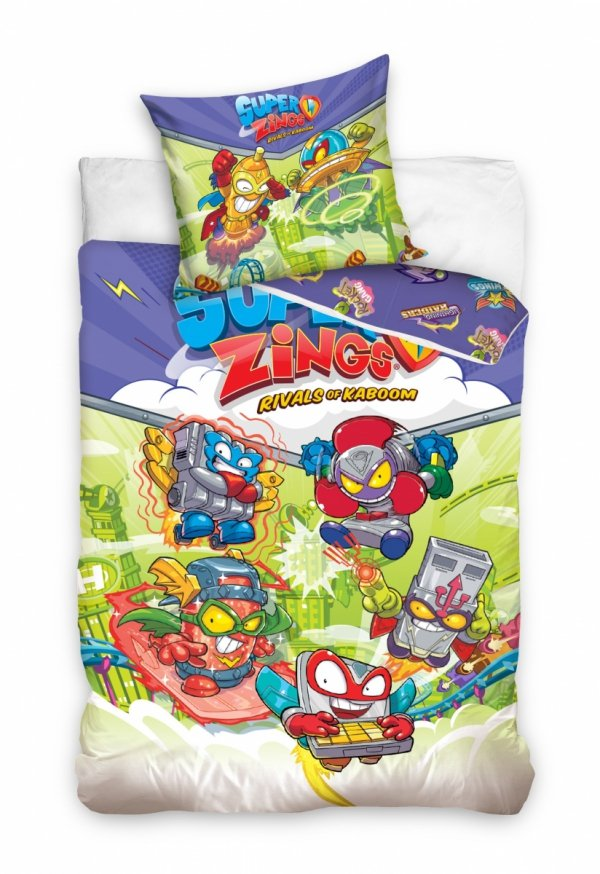 Pościel dla dzieci Super Zings 160x200 Kolorowa