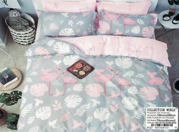 Pościel Flamingi 160x200 Collection World wz 1231