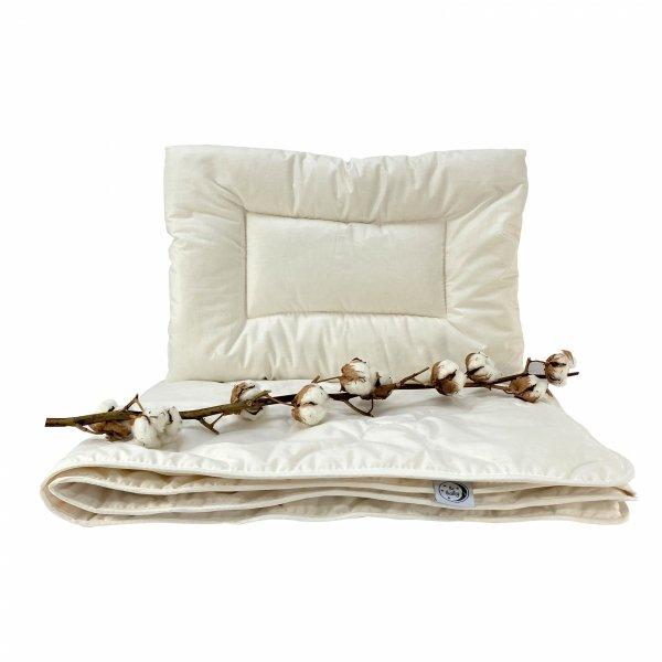 Kołderka ekologiczna dla dzieci z bawełny 100x135 Ecotton Poldaun
