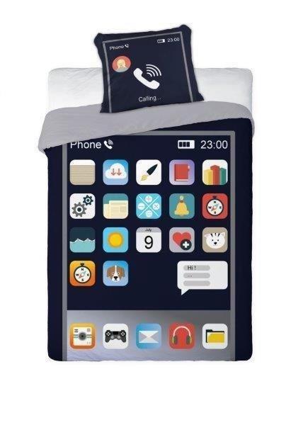 Pościel młodzieżowa 3D 160x200 iPhone Faro - 100% bawełna
