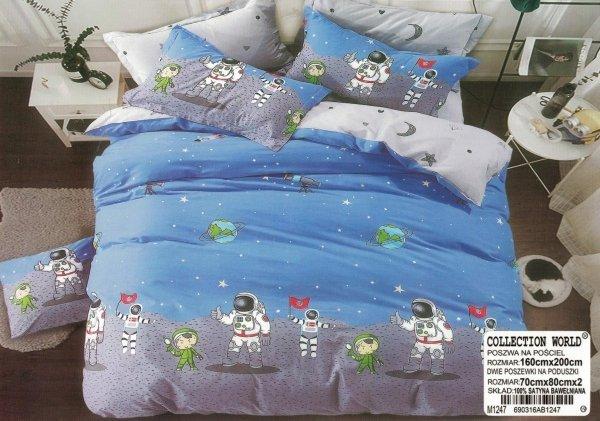 Pościel dla dzieci Collection World 160x200 Kosmonauci
