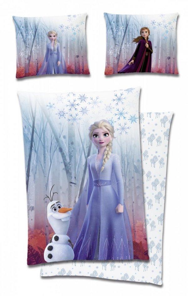 Niebieska pościel Frozen 160x200 Carbotex 100% bawełna