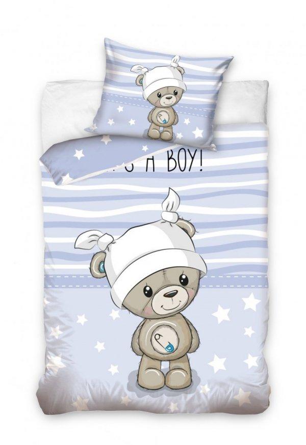 Niebieska pościel dla niemowląt 100x135 Carbotex