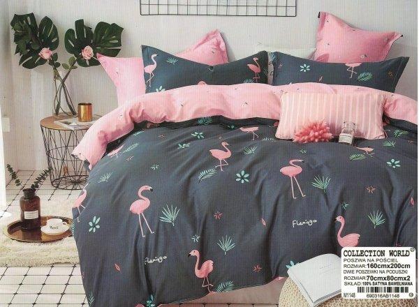 Pościel Flamingi 160x200 Collection World 160x200 wz 1148