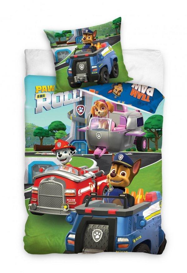 Pościel dla dzieci Psi Patrol 140x200 Carbotex 100% bawełna