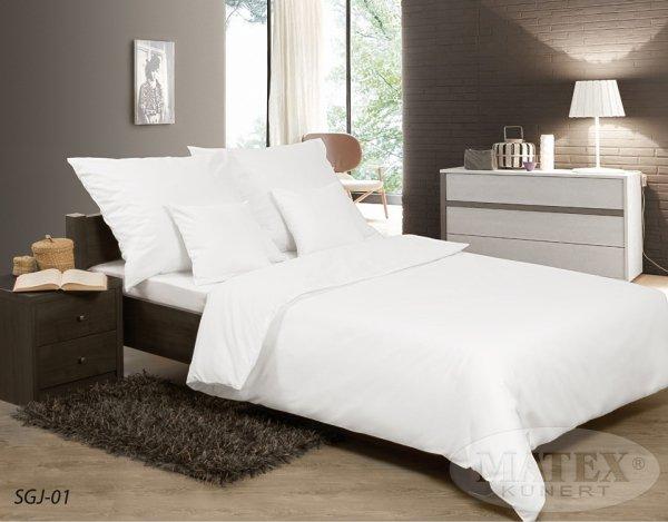 Pościel satynowa Matex Exclusive 160x200 Gładka - biała 100% bawełna wz SGJ-01