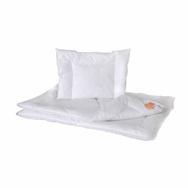 Antyalergiczna kołderka z poduszką dla dzieci i niemowląt 90x120 + 40x60 Hollofill Allerban Poldaun