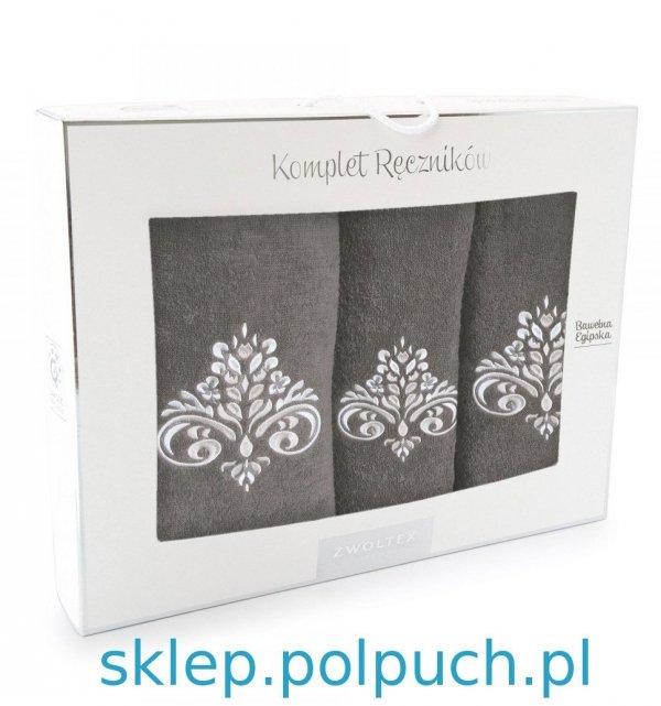 Komplet ręczników kąpielowych Zwoltex Sułtan Taupe 3 Częściowy