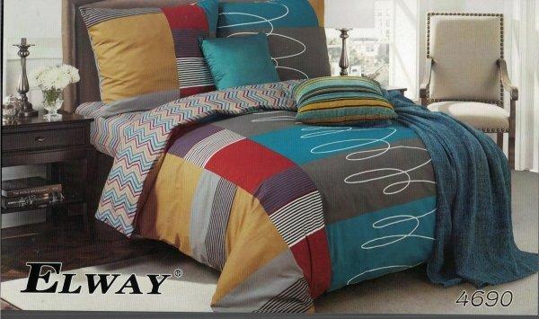 Pościel Elawy 160x200 Kolorowa w Kratkę wz 4690