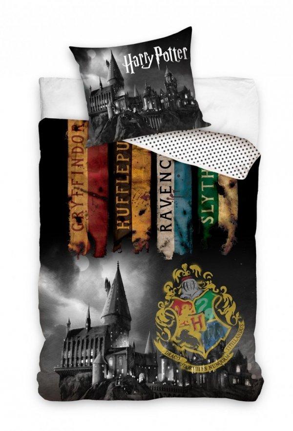 Pościel Harry Potter 160x200 Domy Hogwardu - Carbotex 160x200