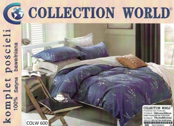 Granatowa pościel Collection World 160x200 wz 600