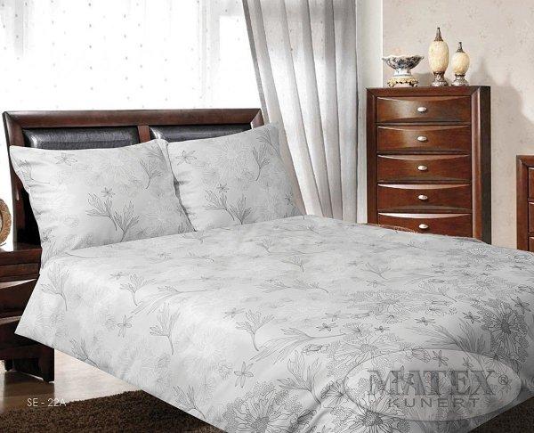 Pościel satynowa Matex Exclusive 160x200 cm Szara 100% bawełna wz SE 22A