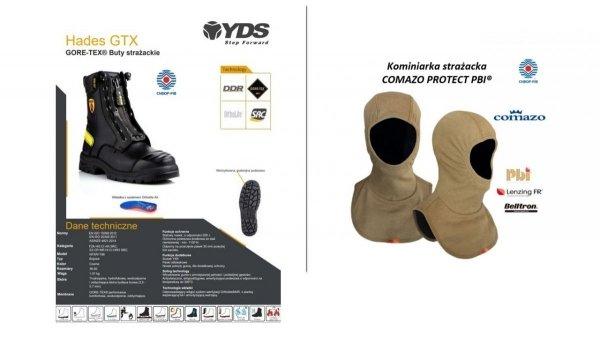 Zestaw 8. Buty specjalne YDS Hades + Kominiarka Comazo Protect PBI - 5 kpl.