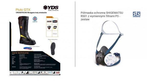 Zestaw 3. Buty specjalne YDS Pluto + półmaska RS01 z zestawem 2 filtrów - 5 kpl.
