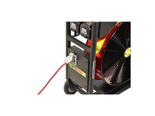 akumulatorowy wentylator strażacki