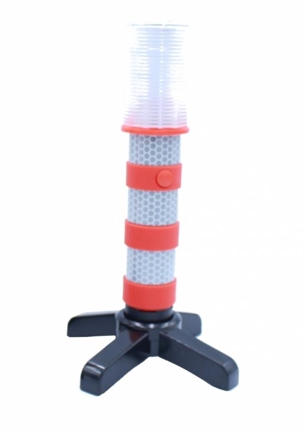Flary ostrzegawcze LED pionowe 3xAAA FLD-2C