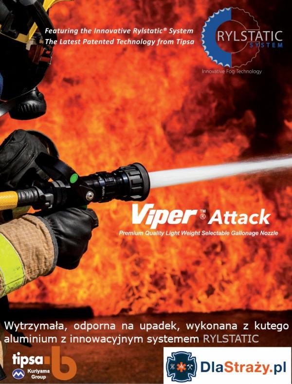 Prądownica wysokociśnieniowa wodno-pianowa TIPSA Viper Attack 550