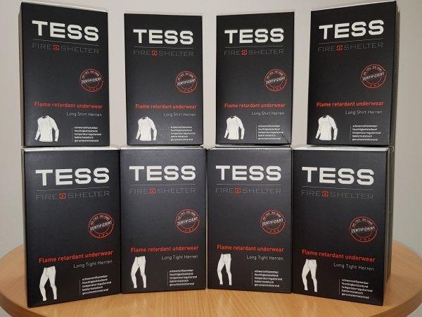 Bielizna podbarierowa TESS Fireshelter trudnopalna termoaktywna antystatyczna - komplet