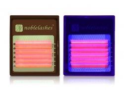 Fluorescent eyelashes Pink B 0,07