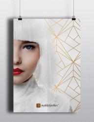 Noble Lashes Poster White & Gold