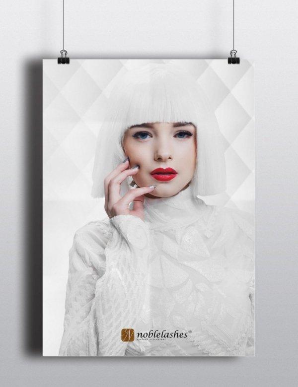 Plakat All White od Noble Lashes