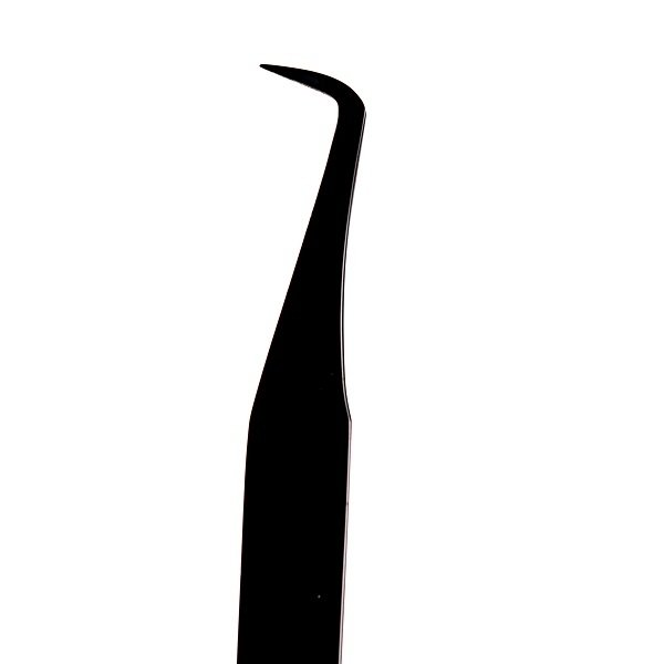 Czarna pęseta Slim L