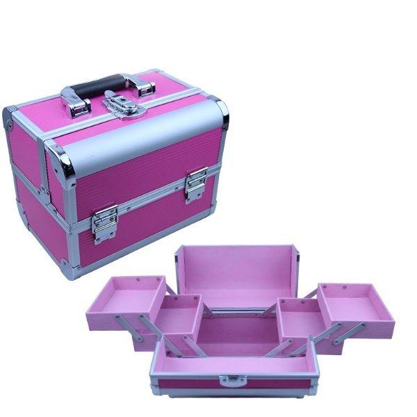 Kuferek kosmetyczny różowy