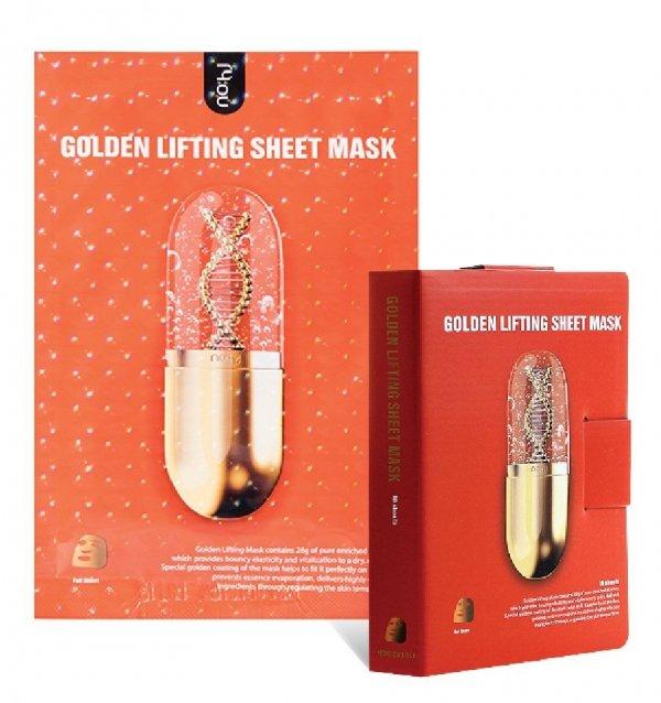 Maske als Pad – Goldenes Lifting