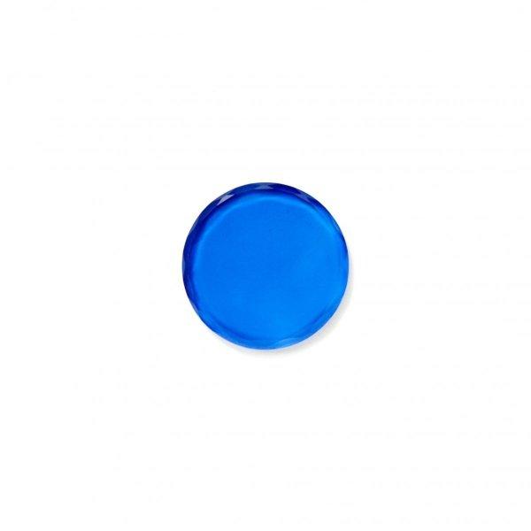 Podstawka kryształowa w kolorze niebieskim