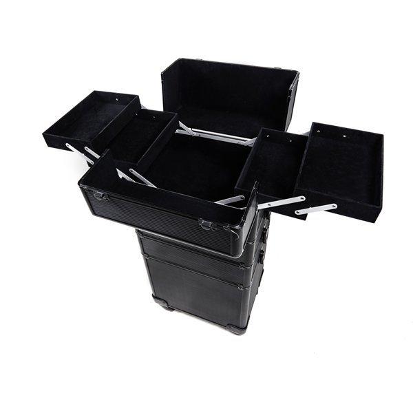 Kuferek czarny na kółkach