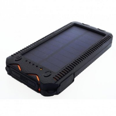 Ładowarka solarna PowerNeed S12000Y (12000mAh; USB; kolor czarno-pomarańczowy)