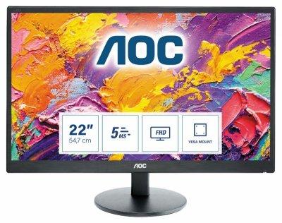 Monitor AOC E2270SWN (21,5; TN; FullHD 1920x1080; VGA; kolor czarny)