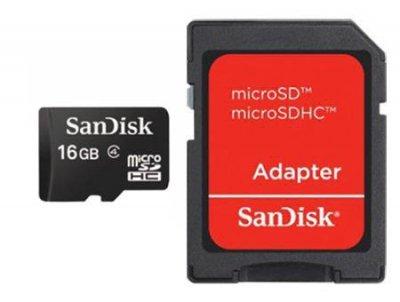 Karta pamięci z adapterem SanDisk SDSDQM-016G-B35A (16GB; Class 4)