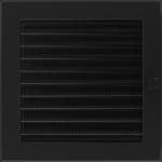 KRATKA kominkowa 22x22 czarna z żaluzją