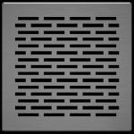 KRATKA kominkowa podłogowa szlif FLOOR 17x17