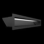 Kratka kominkowa LUFT czarny 9x60