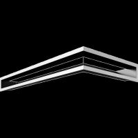 Kratka kominkowa LUFT narożny prawy szlif 40x80x9