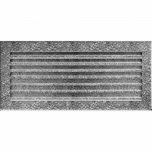 KRATKA kominkowa FRESH  czarno-srebrna 17x37