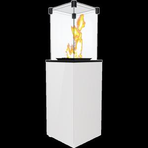 Ogrzewacz gazowy PATIO MINI szkło/biały - sterowanie manualne