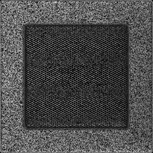 KRATKA kominkowa 17x17 czarno-srebrna