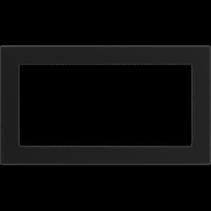 KRATKA kominkowa 17x30 czarna