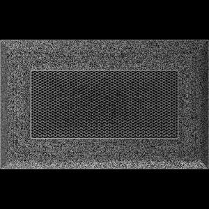 KRATKA kominkowa OSKAR 11x17 czarno-srebrna