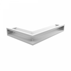 Kratka kominkowa LUFT SF narożny prawy biały 40x60x9