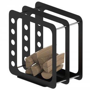 Stojak na drewno K3 czarny mat