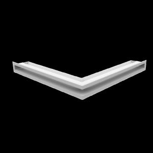 KRATKA kominkowa LUFT narożny biały 56x56x6
