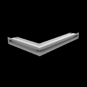 Kratka kominkowa LUFT narożny prawy biały 40x60x6