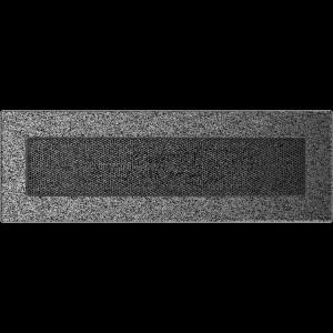 KRATKA kominkowa 11x32 czarno-srebrna