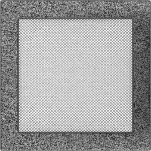 KRATKA kominkowa 22x22 czarno-srebrna